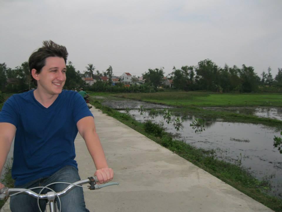 Biking in the Rice Paddies.