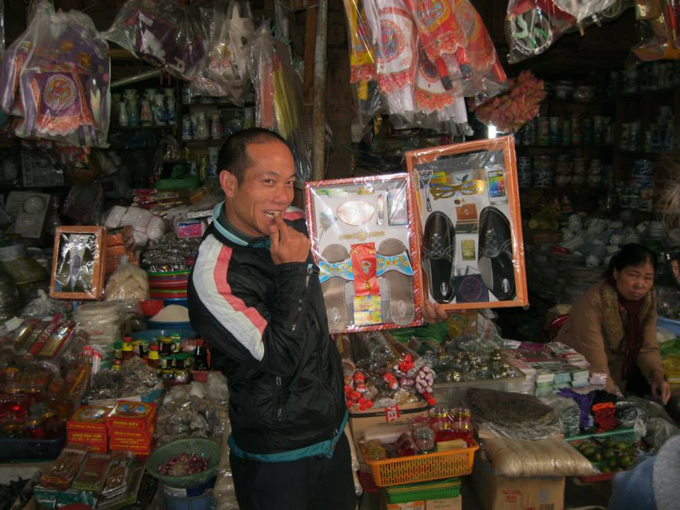 This is Rot explaining to us how these items are used to honor the dead during the Vietnamese New Year. This guy is such a character.