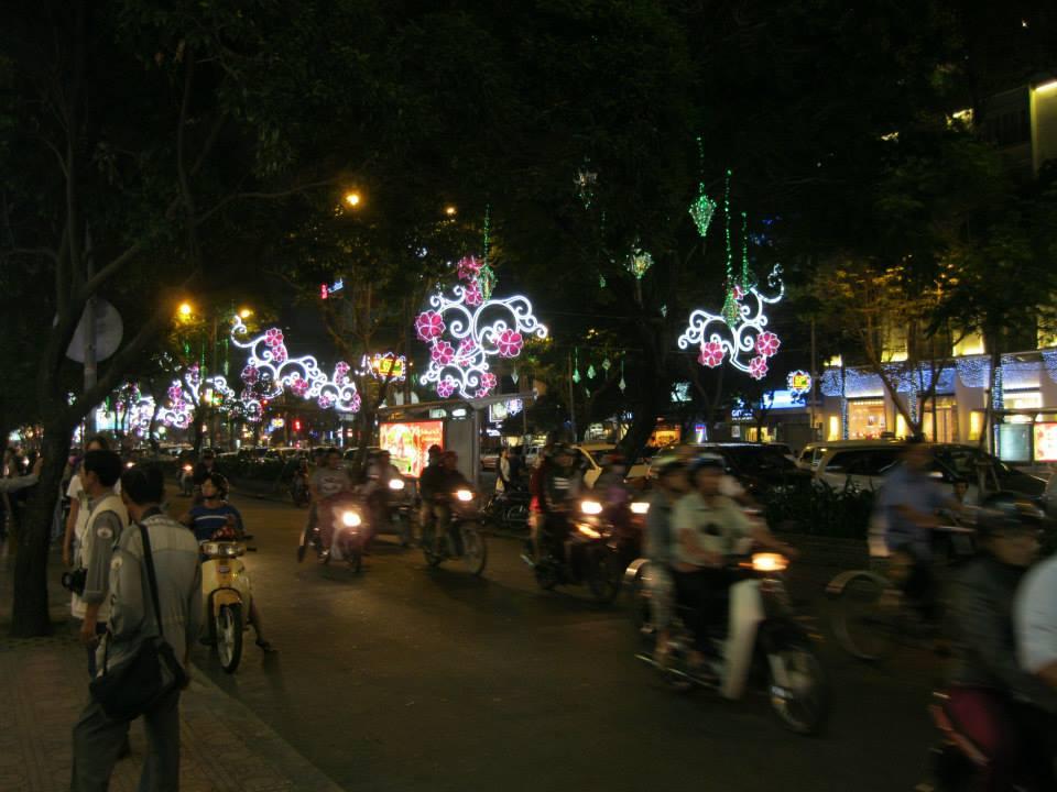 Saigon, Vietnam - new year lights