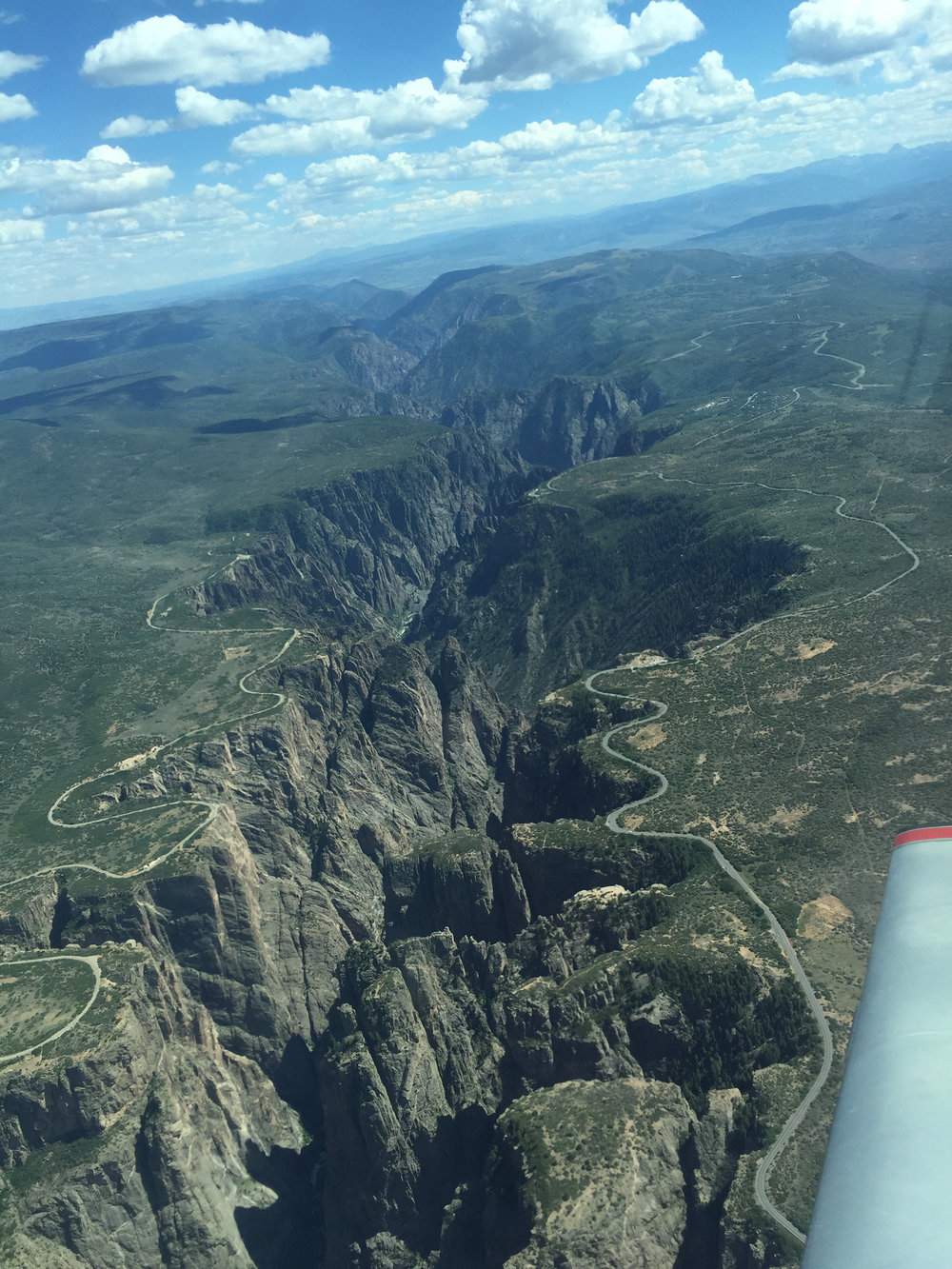 Rim roads on either side of Black Canyon of the Gunnison National Park from The Silver Bullet