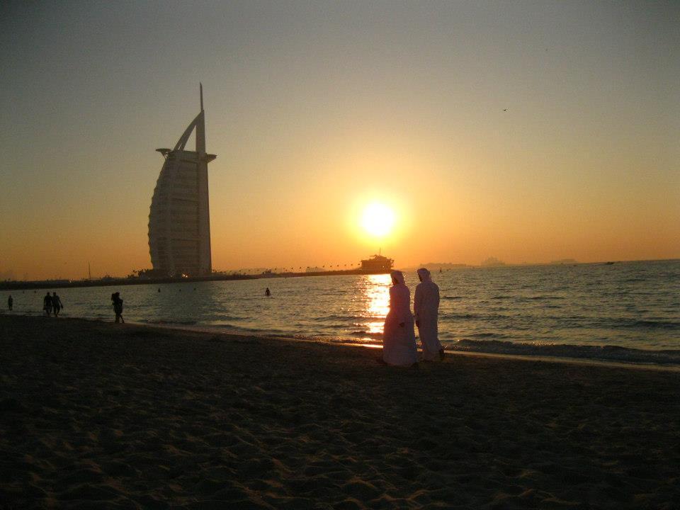 That's the Burj al Arab in the background.