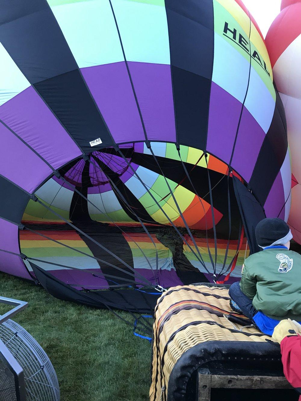 Balloons Inflating - Albuquerque Balloon Fiesta