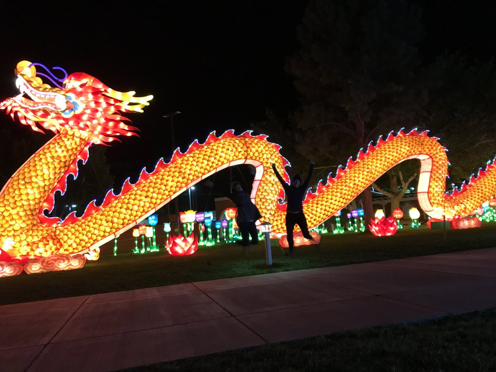 You have no idea how hard it is to get a good jumping shot in front of a giant light up dragon.
