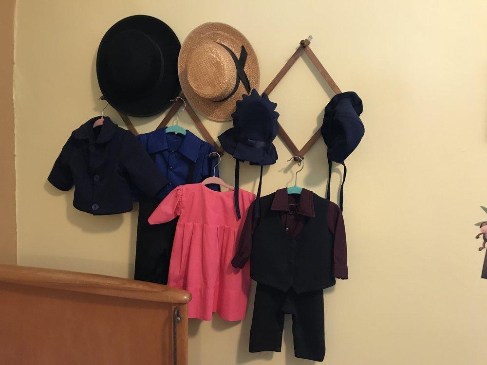Amish children's clothing.