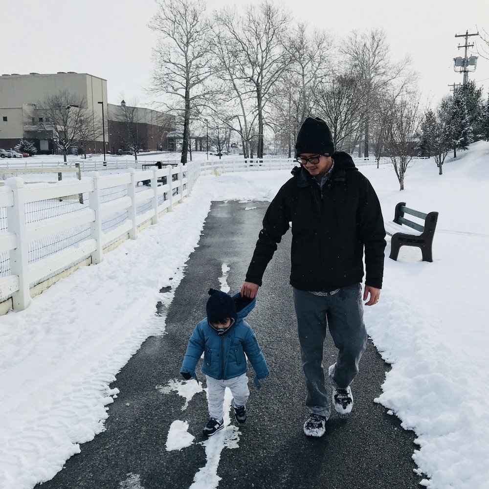 Amish Farm in Snow