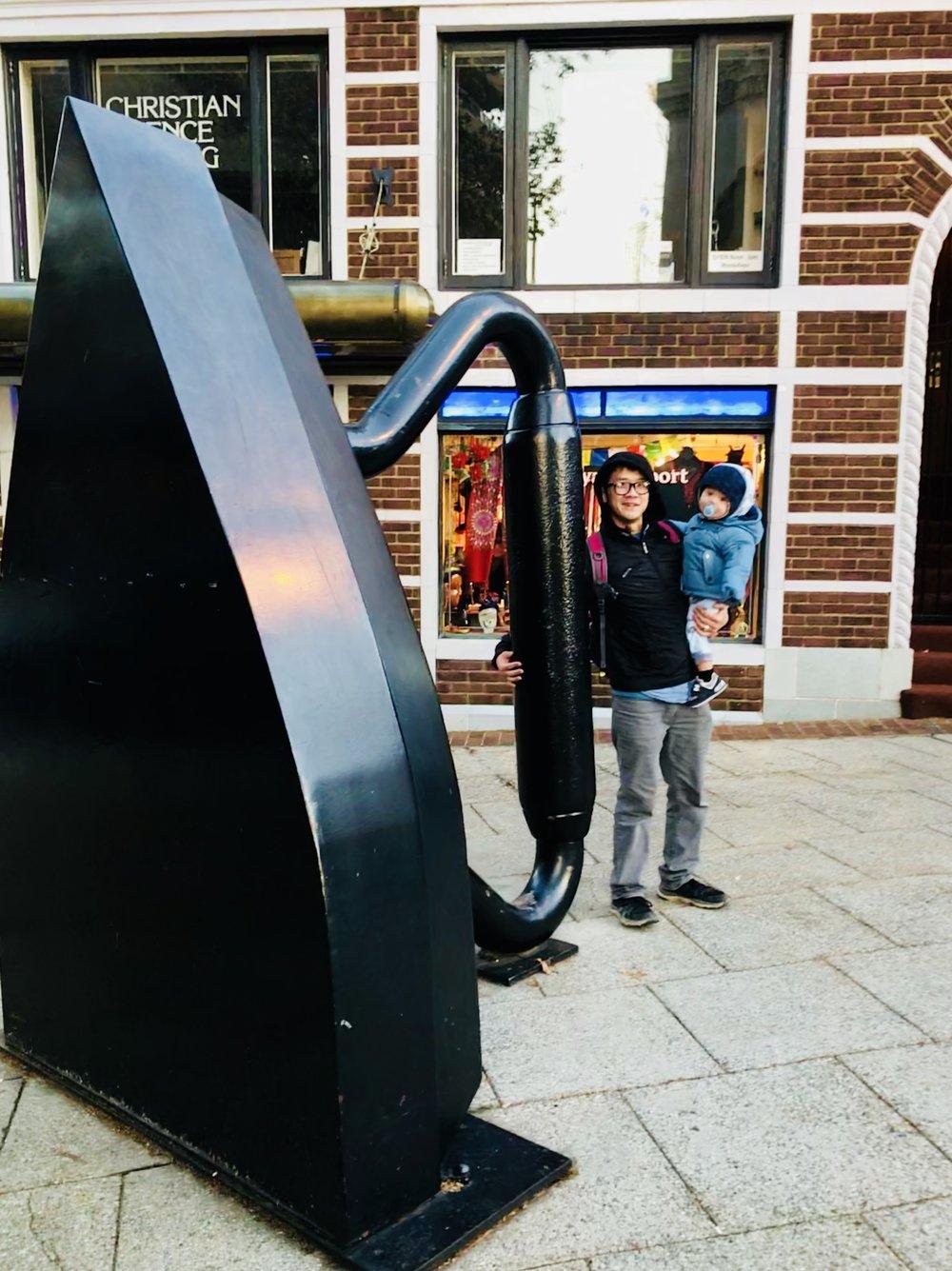 Flat Iron Sculpture - Asheville, NC