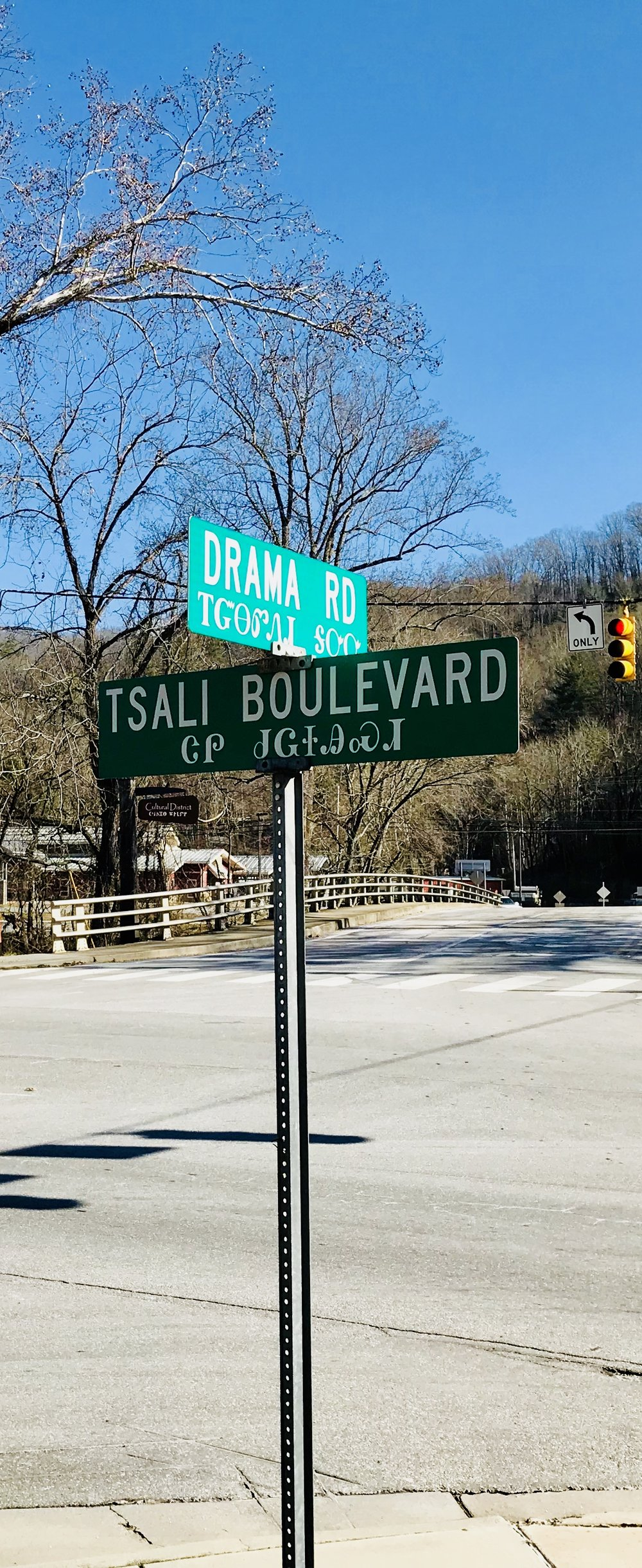 I thought it was so cool that all the road signs had Cherokee translations.
