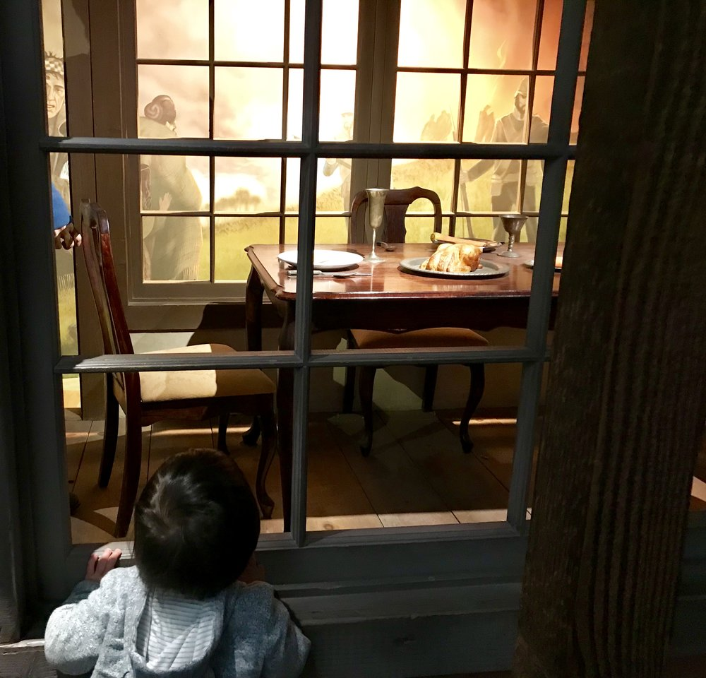 Lewis was especially in awe of this exhibit talking about the Cherokee removal in the 1830's.