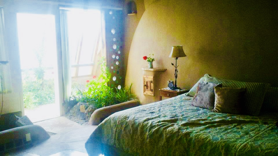 Our lovely Earthship bedroom