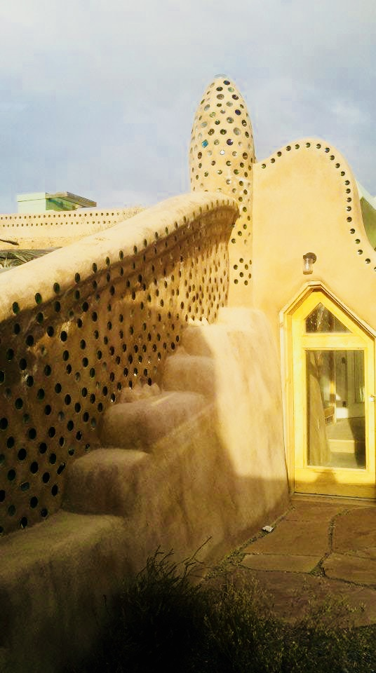 Grand entrance to our Earthship