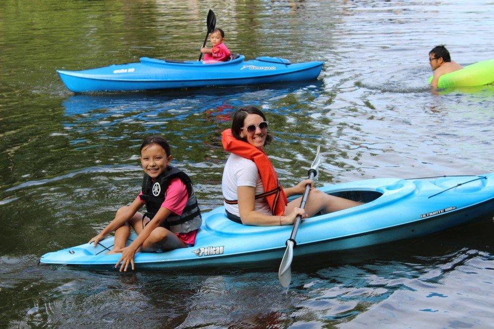 Kayaking on Lake Gaston