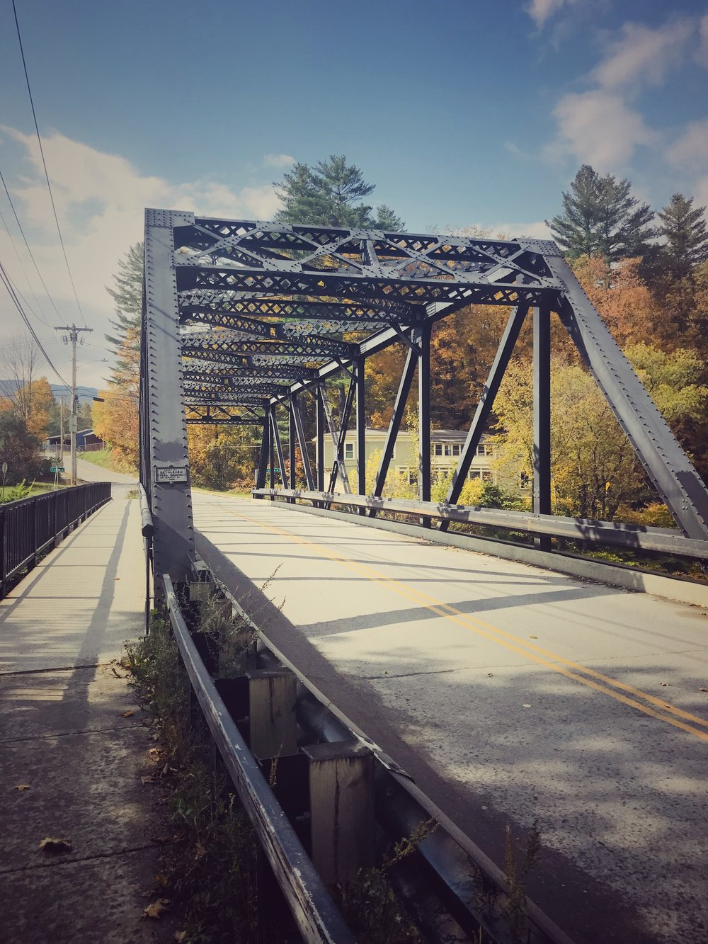 Cute bridge and fall colors on the way to our house for the week.