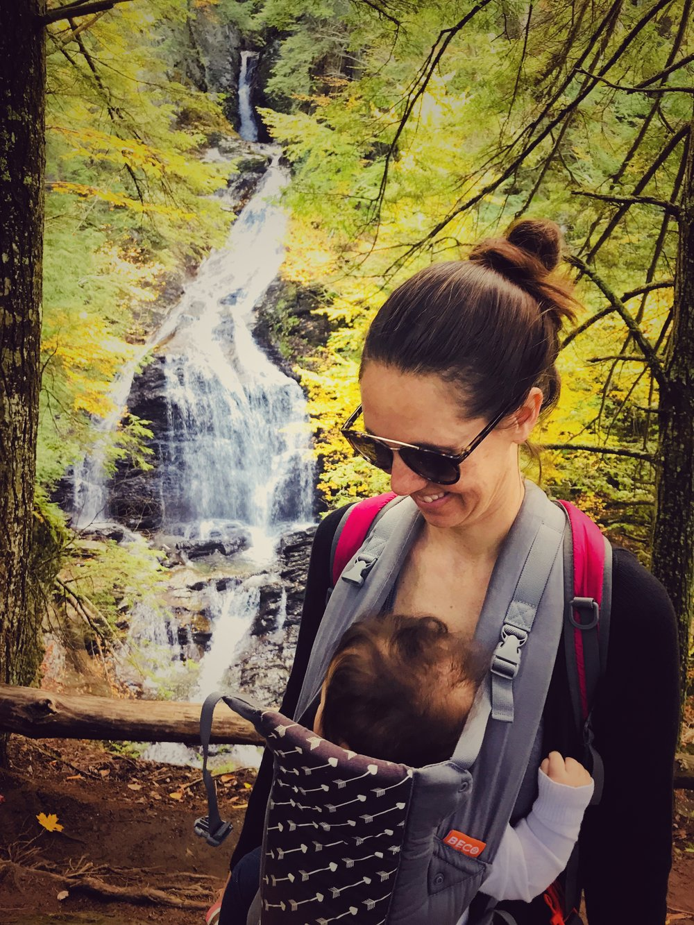 Moss Glen Falls with my sweet baby girl.