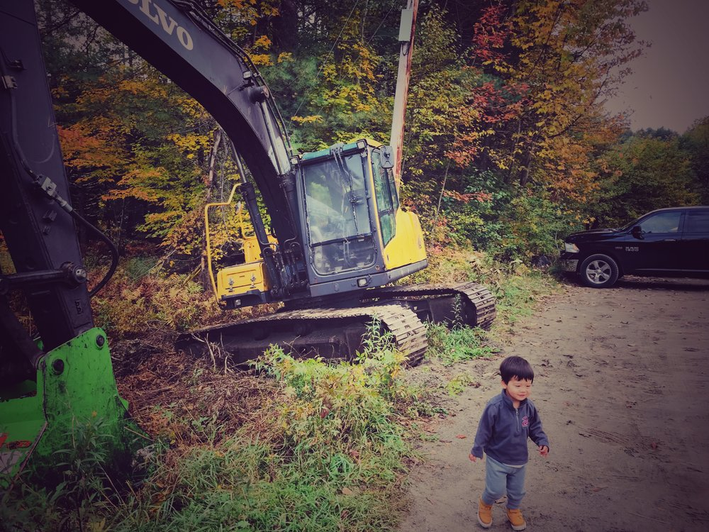 Another excavator at the trailhead.