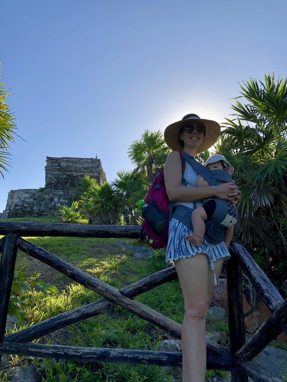 Tulum Ruins with a Baby