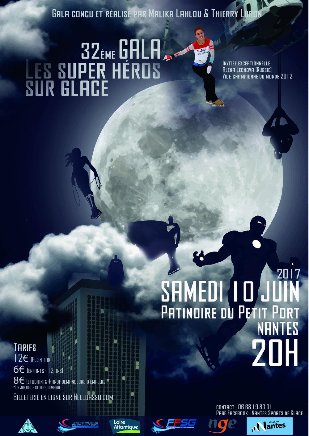 Affiche du gala 2017 - Les Super Héros sur Glace