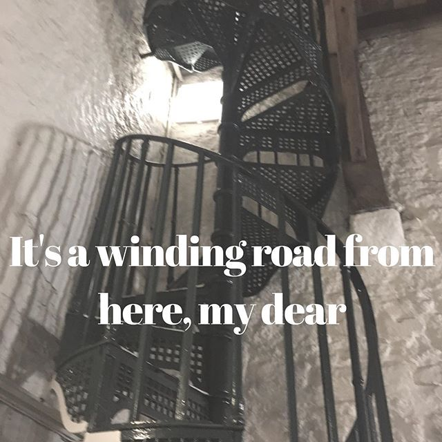 It's a winding road from here, my dear #inspiration #motivation