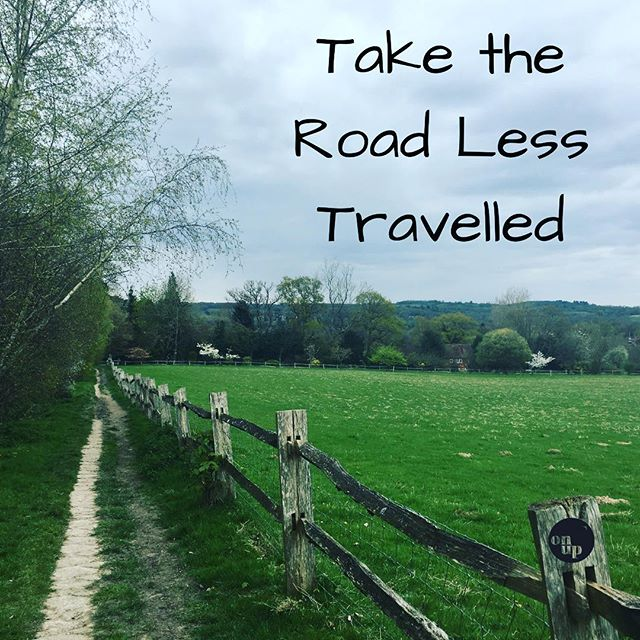 Take the Road Less Travelled #inspiration #motivation