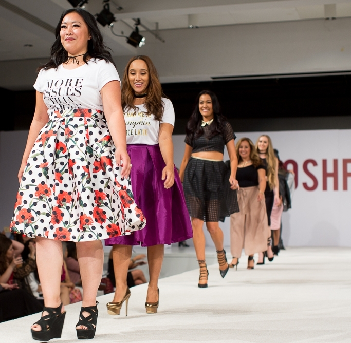 Poshmark's first-ever fashion show featuring Poshmark community members as models highlighting new brands sold on the app