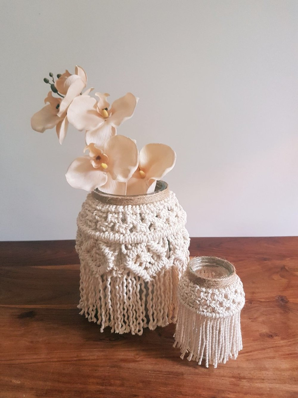 Macramé Tea light Holder