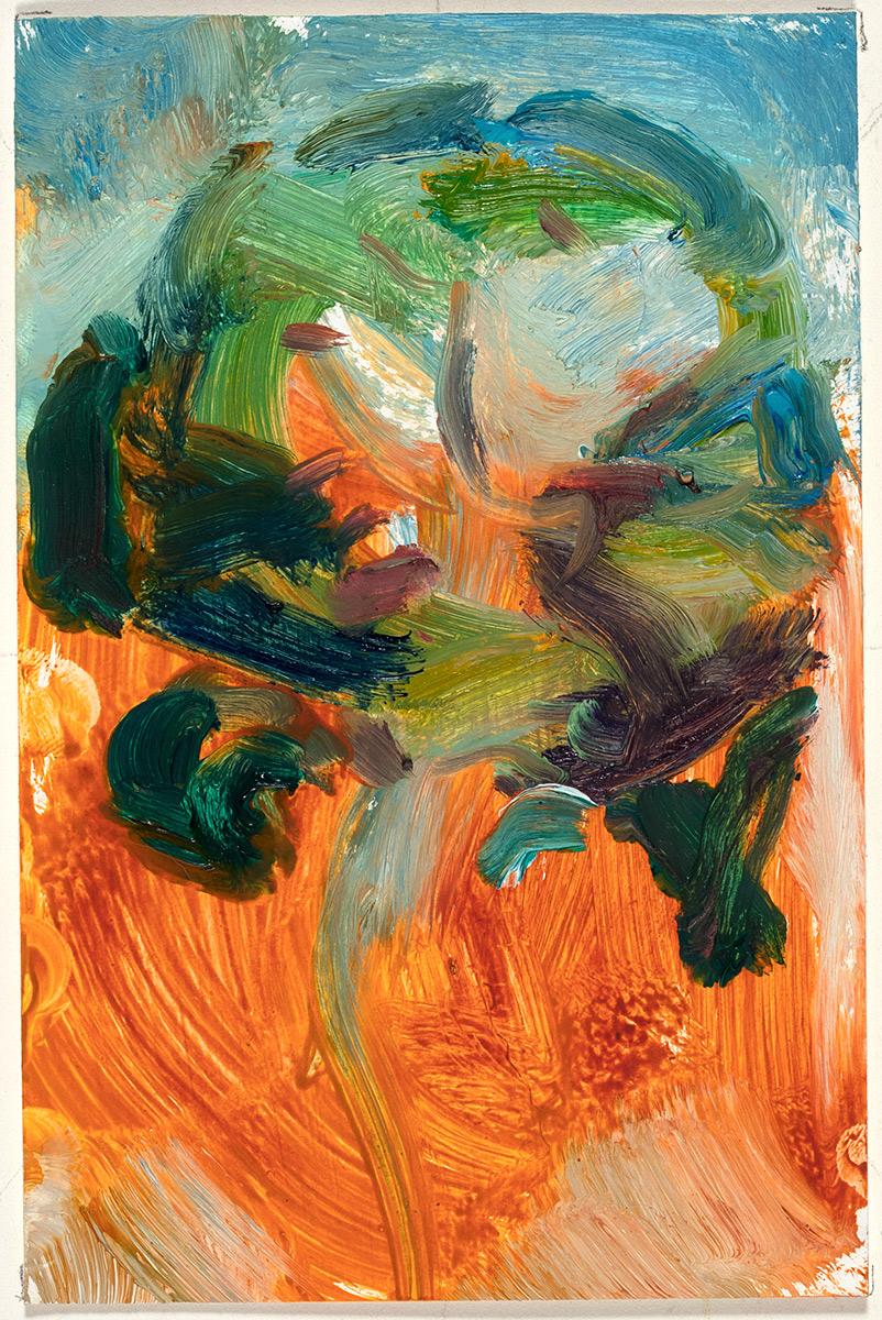 Prosodia  2017 oil on paper 6 x 4 in.
