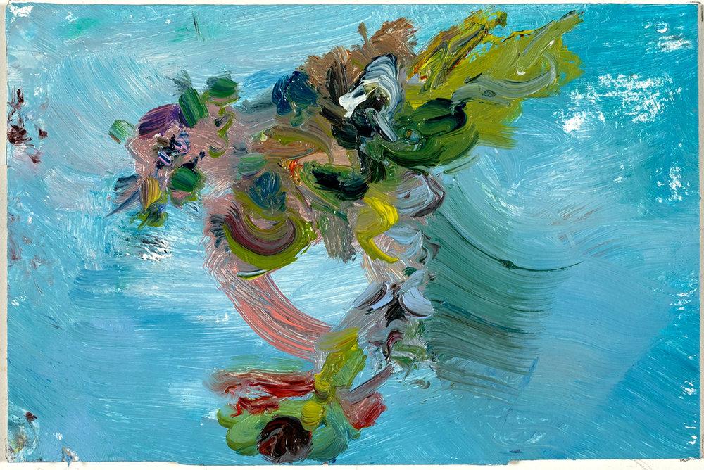 Kalmia Swing  2017 oil on paper 4 x 6 in.