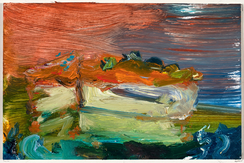 Rising Tide  2017 oil on paper 4 x 6 in.