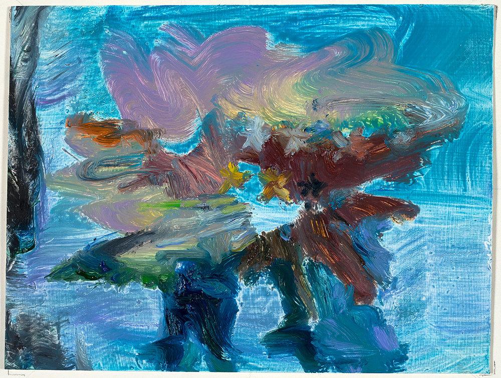 Cumulus  2018 oil on paper 6 x 8 in.