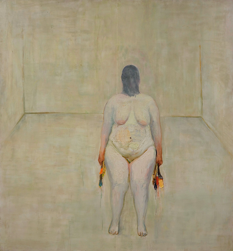 Self Portrait 4, 2004, oil on wood, 64 x 60 inches. Courtesy the artist.