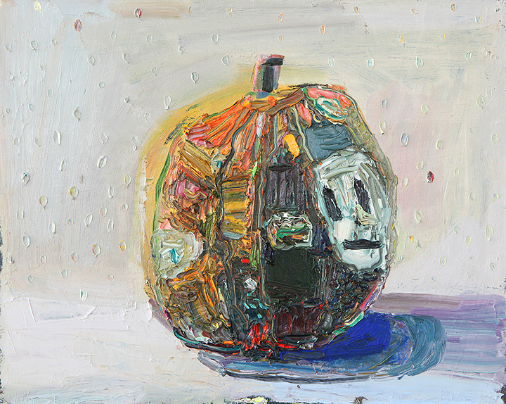Rotting Jack-O, 2012, oil on canvas, 16 x 20 in. Photo by Tim Davis and Pete Mauney, courtesy the artist.