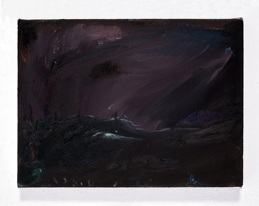 Prayer , 2016, oil on canvas, 9 x 12 in.