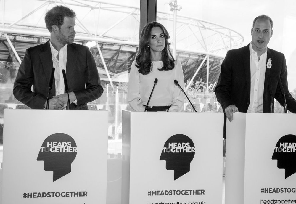 "The Duke and Duchess of Cambridge and Prince Harry, Co-ordinators of the Heads Together Campaign, 2017  - ""Through our work with young people, emergency response, homeless charities, and with veterans, we have seen time and time again that unresolved mental health problems lie at the heart of some of our greatest social challenges."""