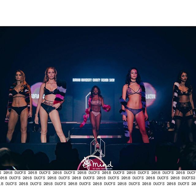 DUCFS 2018 in aid of @mindcharity. Maise, Loy, Hannah and Sadia wear @sofialuzonlingerie and Harriet wears @urbanbirdclothing, all accessorised with @charlottesimone_ scarves in the Girls' Underwear Walk.  #TheShapeOfNow XXXV Photographed by James Gourlay.
