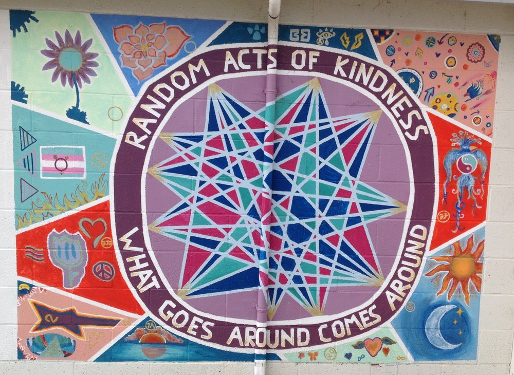 This mural can be seen next door to Safe Passage at the Teen Lounge. It was created by Ariela Marshall and her students at Noyo High School.