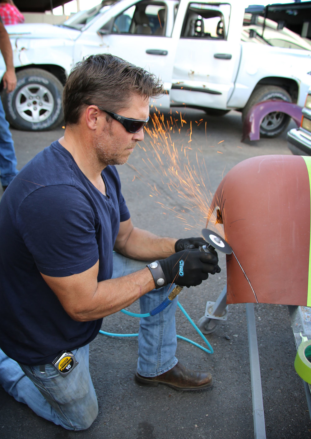 Tim McClellan cutting fender.jpg
