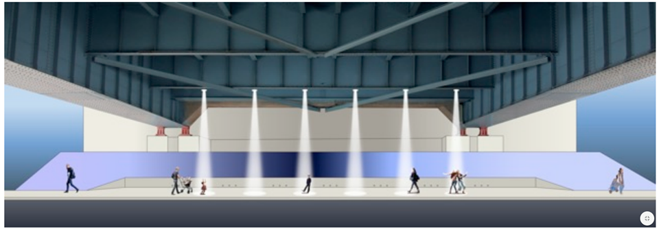 "A rendering of ""Lighting Your Way."" Site Projects Photo."