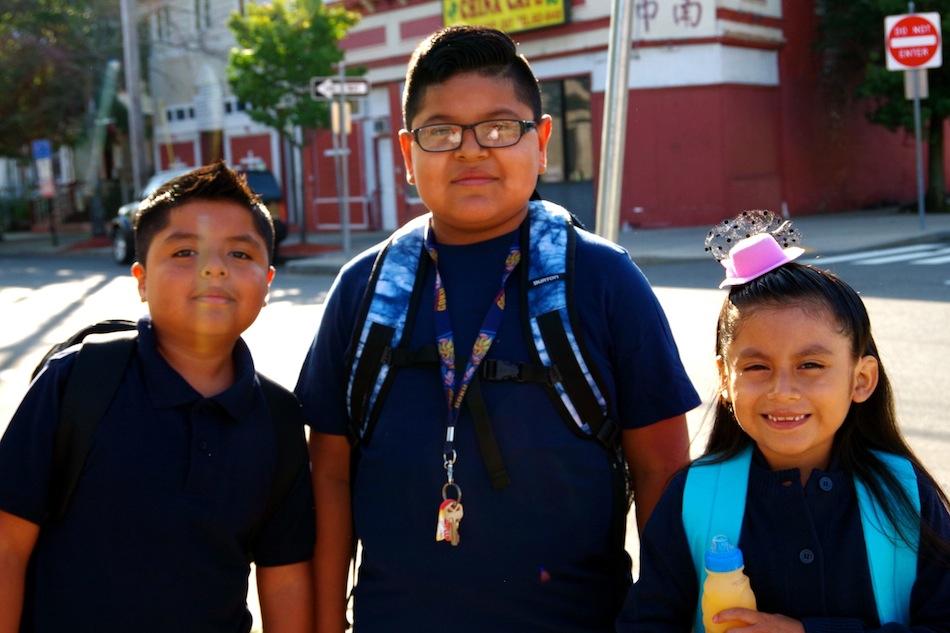Mary Jasmine Lopez, Abraham Perez and Miguel Lopez.