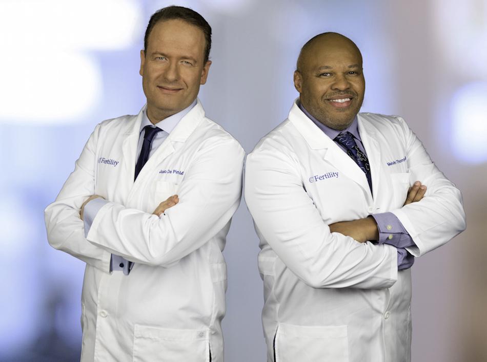 Drs.Joao De Pinho (left) and Melvin Thornton II (right). Courtesy CT Fertility.