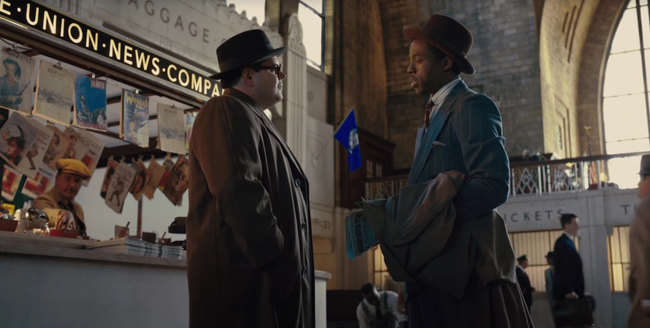 Thurgood Marshall (Chadwick Boseman) and Bridgeport litigator Sam Friedman (Josh Gad)