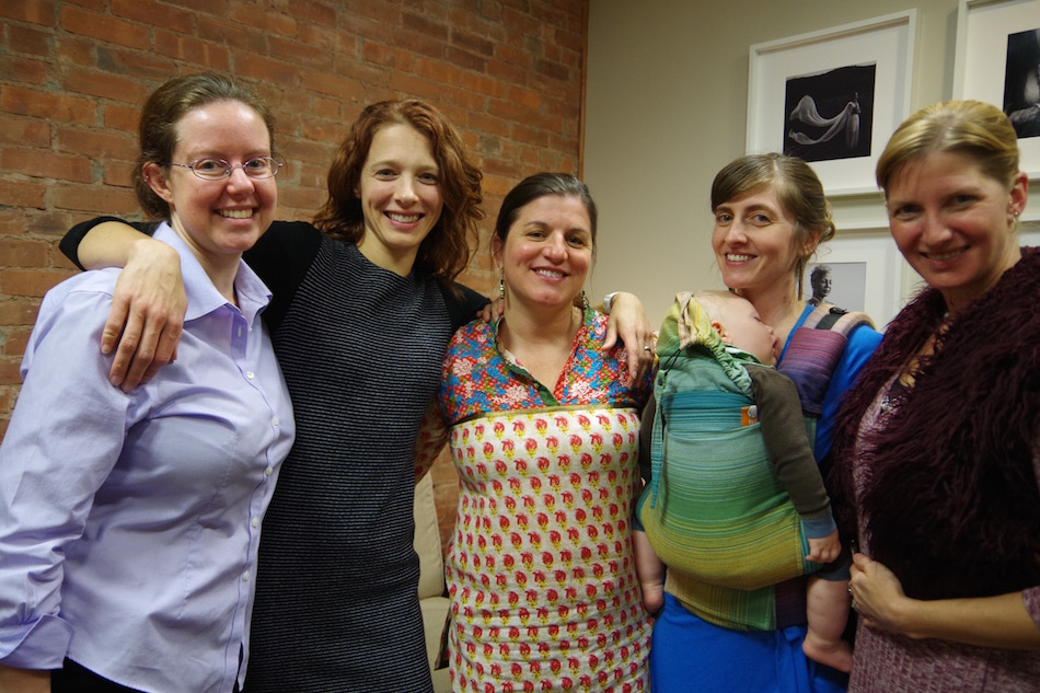Kristen Becker, Laura Sundstrom, Kristen Wiley,  Kristen Nowak, and Eliza Holland of WHA. Lucy Gellman Photo.