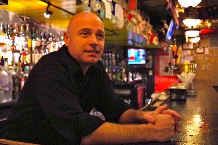 Bartender Ray Coyle. Lucy Gellman Photo.