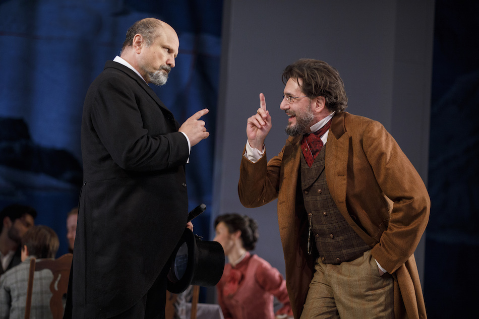 Enrico Colantoni and Reg Rogers in  An Enemy of the People  by Henrik Ibsen, new translation by Paul Walsh, directed by James Bundy. Photo by Joan Marcus, 2017.