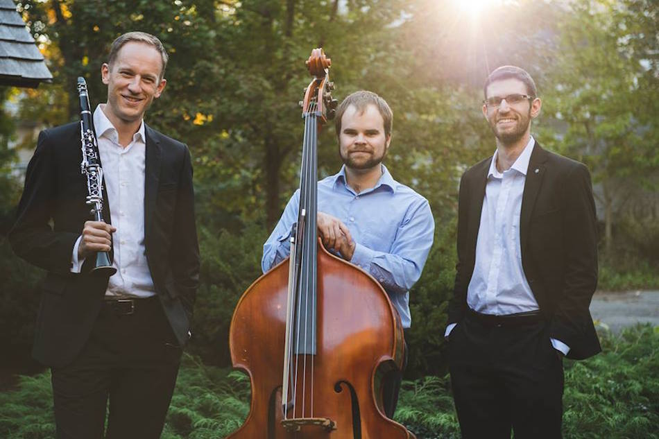 David Perry, Clarinetist and Founder; Sam Bobinski, Bassist and Marketing Director Yevgeny Yontov, Pianist and Artistic Director. Matthew Fried Photo.