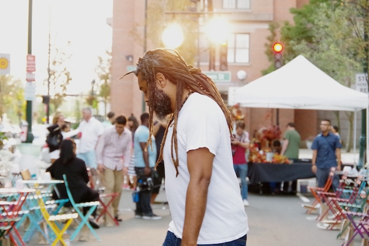 Wisdom at an Orange Street fashion show in fall 2015.