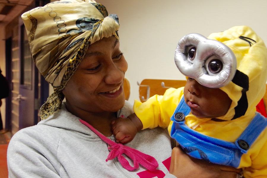 Arquilla Allen with son Kyrie.