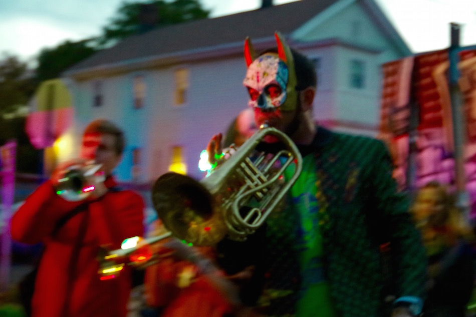 """The Hartford Hot Several's Josh Michtom led the group in pieces that ranged from """"When The Saints Go Marching In"""" to Jon Batiste and Stay Human's """"I Feel Good."""""""