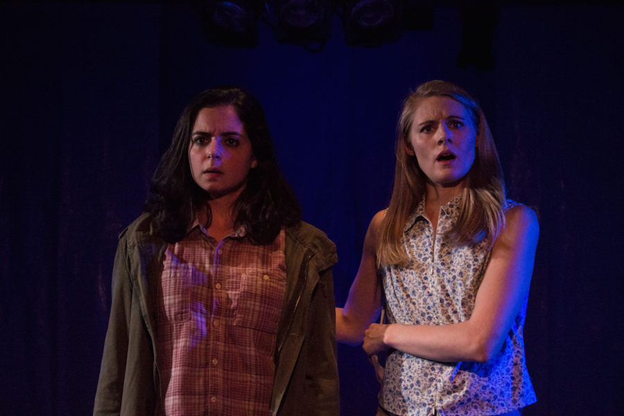 Machado as Anna and Rachel Kenny as her mom. Photos courtesy of the Yale Cabaret.