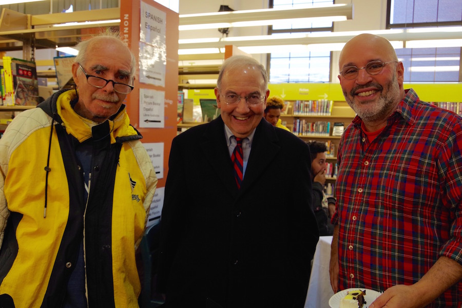 David Caron, State Sen. Martin Looney, Lee Cruz. Lucy Gellman Photos.