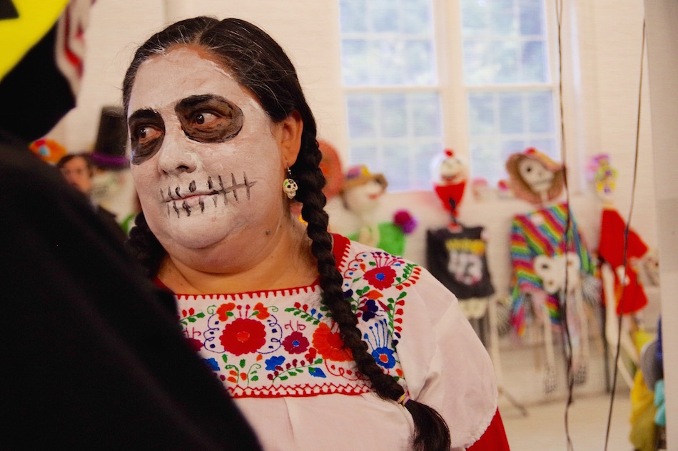 Rojas earlier this year, at ULA's annual Día de los Muertos parade. Lucy Gellman Photo.