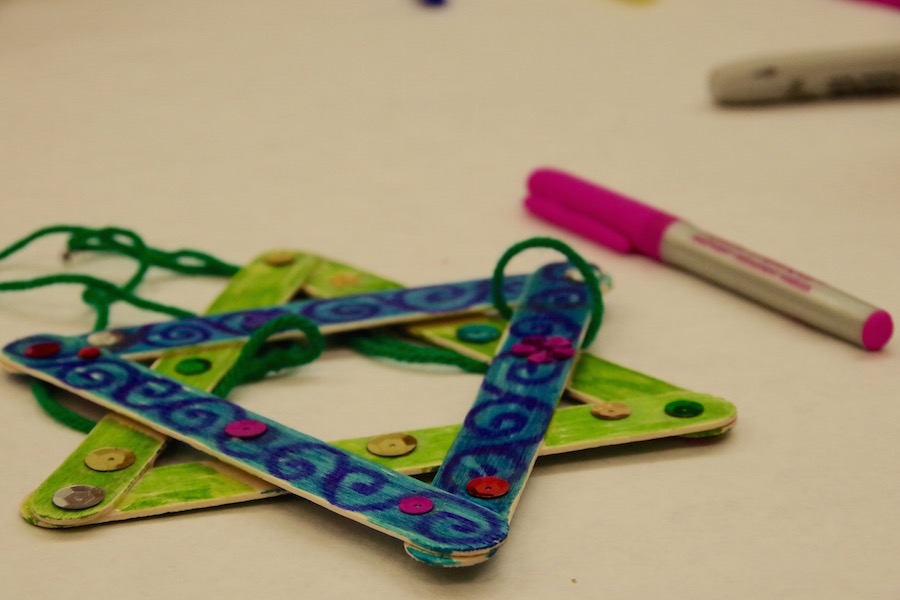 One of the available crafts available at the Mitchell Branch of the New Haven Free Public Library. Lucy Gellman Photo.